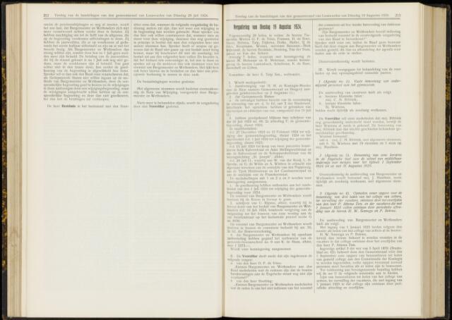 Raadsverslagen van de gemeente Leeuwarden, 1865-2007 (Notulen) 1924-08-19