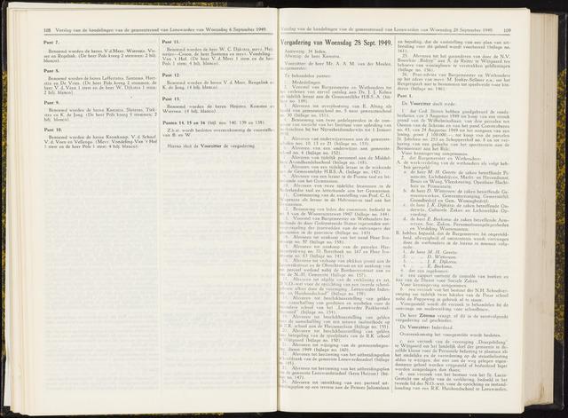 Raadsverslagen van de gemeente Leeuwarden, 1865-2007 (Notulen) 1949-09-28