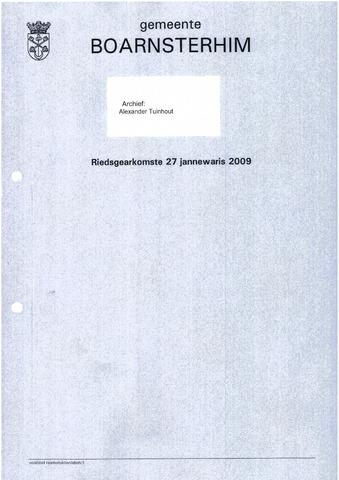 Boarnsterhim vergaderstukken gemeenteraad  2009-01-27