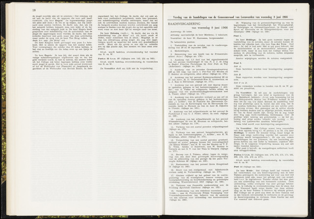 Raadsverslagen van de gemeente Leeuwarden, 1865-2007 (Notulen) 1966-06-08