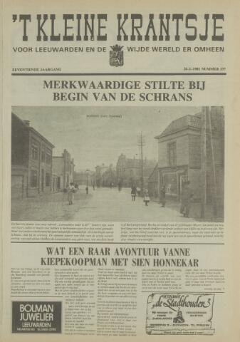 't Kleine Krantsje, 1964-1997 1981-01-24