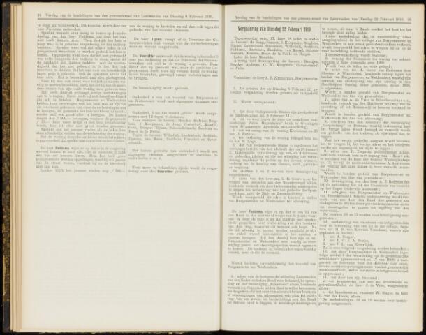 Raadsverslagen van de gemeente Leeuwarden, 1865-2007 (Notulen) 1910-02-22
