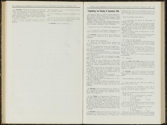Raadsverslagen van de gemeente Leeuwarden, 1865-2007 (Notulen) 1906-09-18