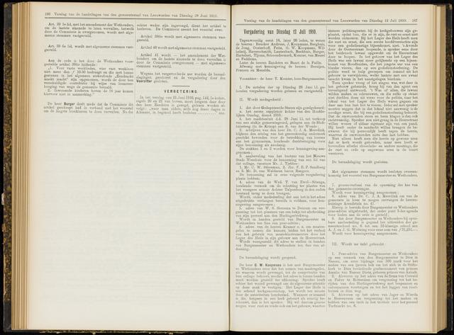 Raadsverslagen van de gemeente Leeuwarden, 1865-2007 (Notulen) 1910-07-12
