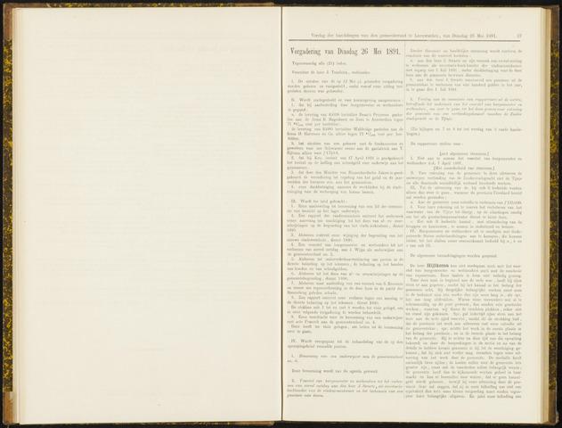 Raadsverslagen van de gemeente Leeuwarden, 1865-2007 (Notulen) 1891-05-26