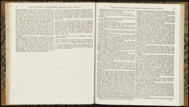 Raadsverslagen van de gemeente Leeuwarden, 1865-2007 (Notulen) 1878-07-11