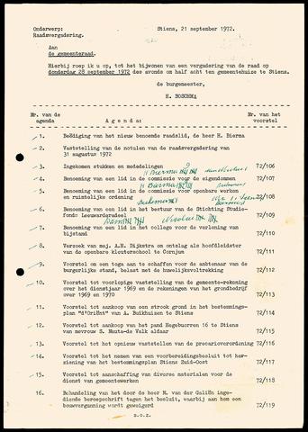 Notulen van de gemeenteraad van Leeuwarderadeel 1972-08-31