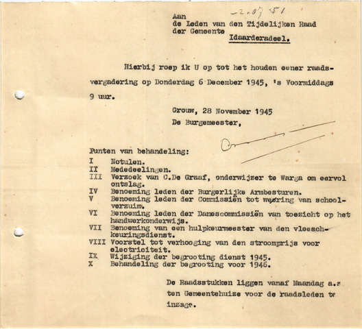 raadsverslagen Idaarderadeel 1935-1983 1945-12-06