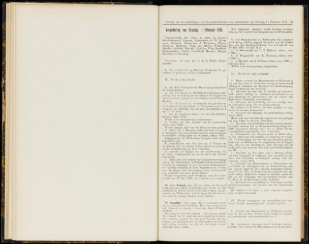 Raadsverslagen van de gemeente Leeuwarden, 1865-2007 (Notulen) 1913-02-11