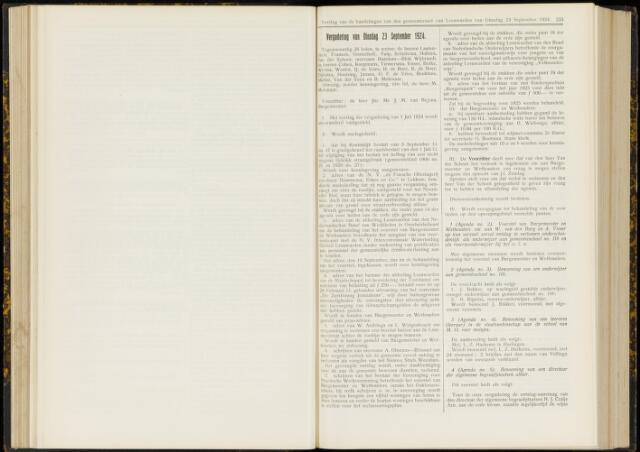 Raadsverslagen van de gemeente Leeuwarden, 1865-2007 (Notulen) 1924-09-23