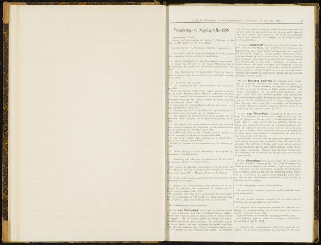 Raadsverslagen van de gemeente Leeuwarden, 1865-2007 (Notulen) 1888-05-08