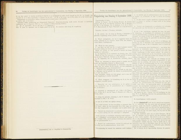Raadsverslagen van de gemeente Leeuwarden, 1865-2007 (Notulen) 1896-09-08
