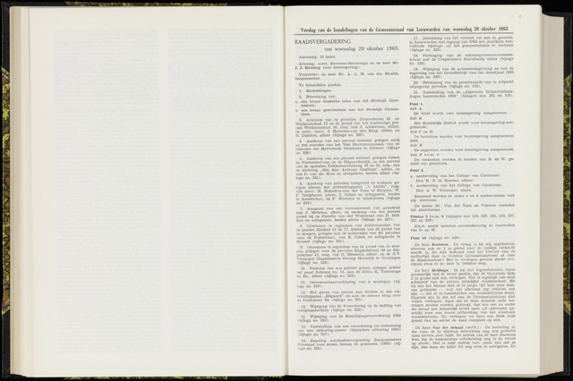 Raadsverslagen van de gemeente Leeuwarden, 1865-2007 (Notulen) 1965-10-20
