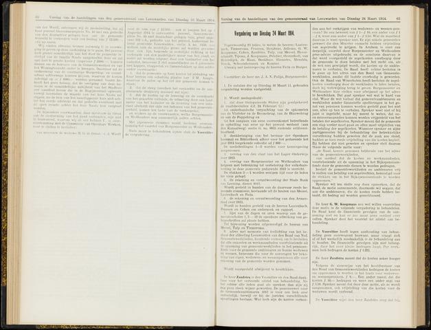 Raadsverslagen van de gemeente Leeuwarden, 1865-2007 (Notulen) 1914-03-24