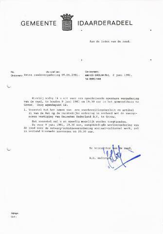 raadsverslagen Idaarderadeel 1935-1983 1981-06-09