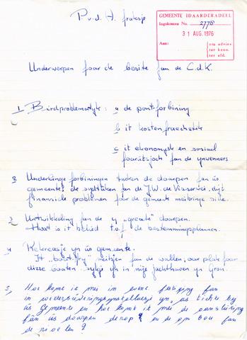 raadsverslagen Idaarderadeel 1935-1983 1976-10-07