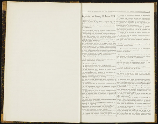 Raadsverslagen van de gemeente Leeuwarden, 1865-2007 (Notulen) 1894-01-23