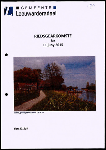 Notulen van de gemeenteraad van Leeuwarderadeel 2015-06-11