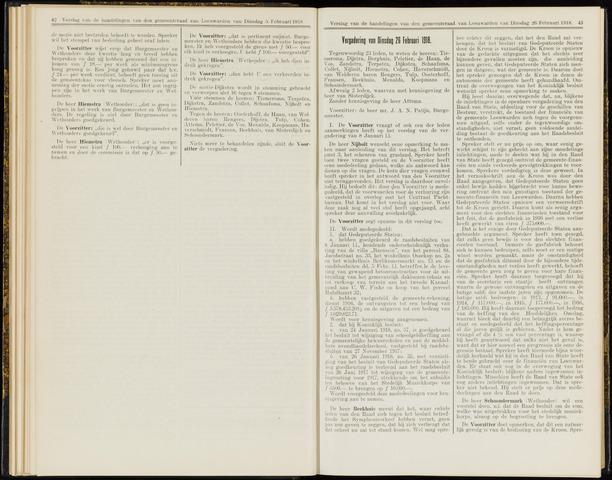 Raadsverslagen van de gemeente Leeuwarden, 1865-2007 (Notulen) 1918-02-26