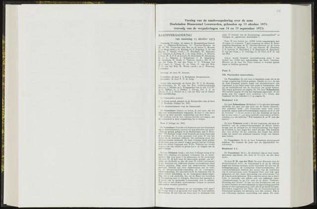 Raadsverslagen van de gemeente Leeuwarden, 1865-2007 (Notulen) 1973-10-15