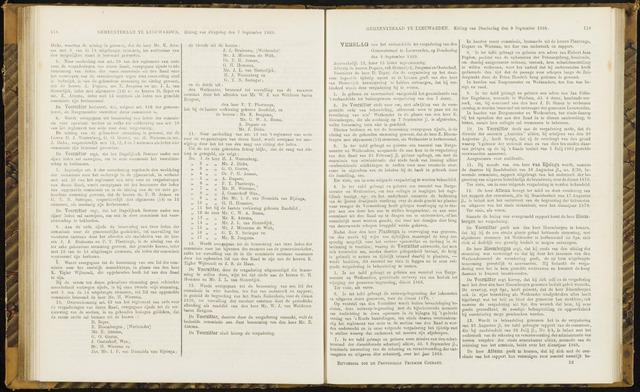 Raadsverslagen van de gemeente Leeuwarden, 1865-2007 (Notulen) 1869-09-09