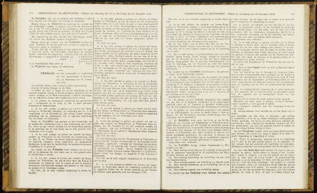 Raadsverslagen van de gemeente Leeuwarden, 1865-2007 (Notulen) 1869-11-25