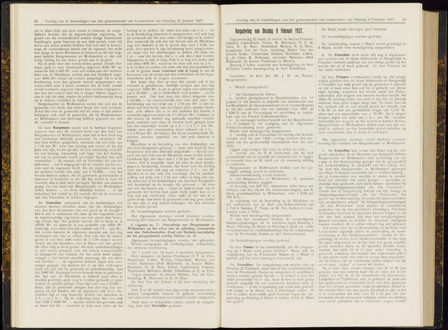 Raadsverslagen van de gemeente Leeuwarden, 1865-2007 (Notulen) 1927-02-08
