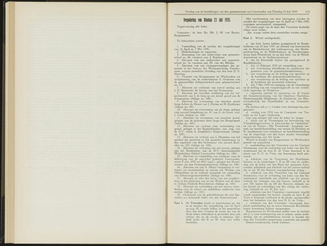Raadsverslagen van de gemeente Leeuwarden, 1865-2007 (Notulen) 1935-07-23