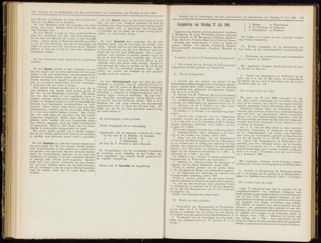 Raadsverslagen van de gemeente Leeuwarden, 1865-2007 (Notulen) 1909-07-27