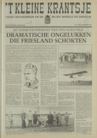't Kleine Krantsje, 1964-1997 1983-07-30