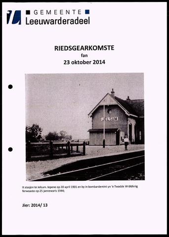 Notulen van de gemeenteraad van Leeuwarderadeel 2014-10-23