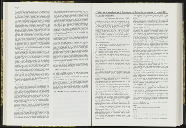 Raadsverslagen van de gemeente Leeuwarden, 1865-2007 (Notulen) 1969-02-24