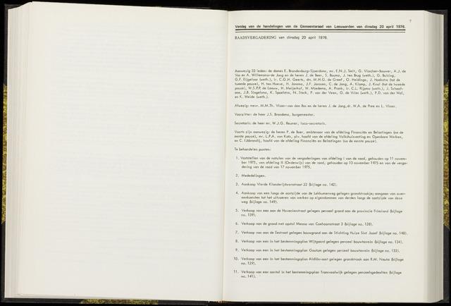 Raadsverslagen van de gemeente Leeuwarden, 1865-2007 (Notulen) 1976-04-20