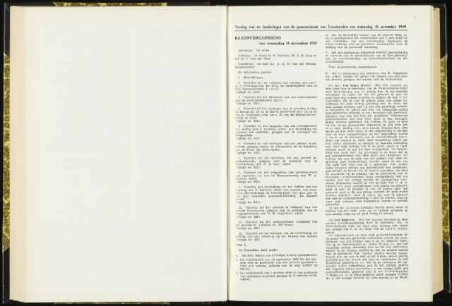 Raadsverslagen van de gemeente Leeuwarden, 1865-2007 (Notulen) 1959-11-18