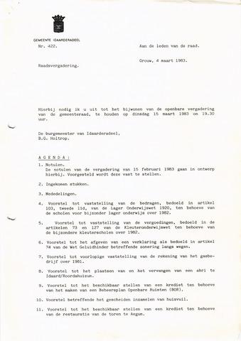 raadsverslagen Idaarderadeel 1935-1983 1983-03-15