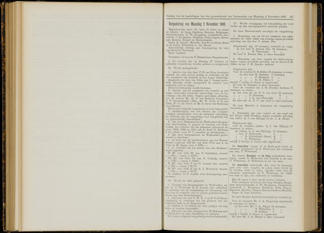 Raadsverslagen van de gemeente Leeuwarden, 1865-2007 (Notulen) 1908-11-02