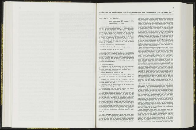 Raadsverslagen van de gemeente Leeuwarden, 1865-2007 (Notulen) 1971-03-29