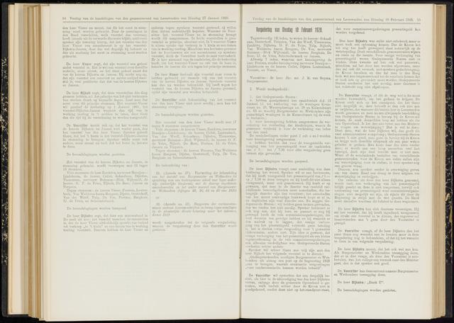 Raadsverslagen van de gemeente Leeuwarden, 1865-2007 (Notulen) 1920-02-10