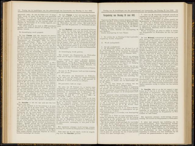 Raadsverslagen van de gemeente Leeuwarden, 1865-2007 (Notulen) 1912-06-25