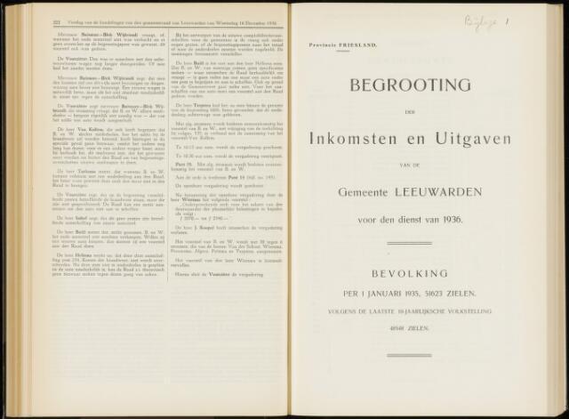 Raadsverslagen van de gemeente Leeuwarden, 1865-2007 (Bijlagen) 1936-01-01
