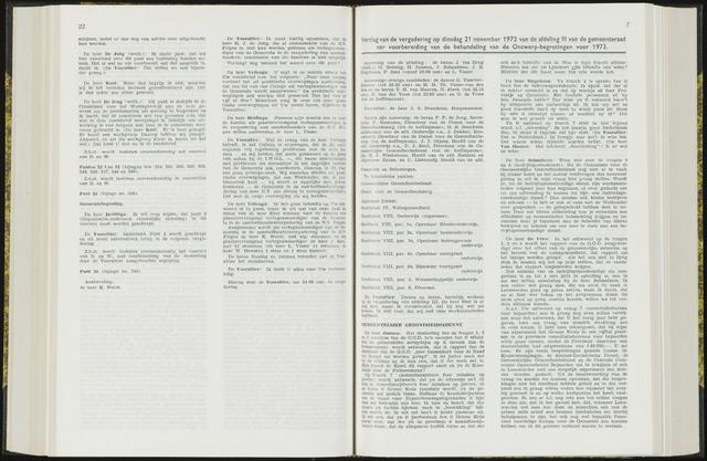 Raadsverslagen van de gemeente Leeuwarden, 1865-2007 (Notulen) 1972-11-21