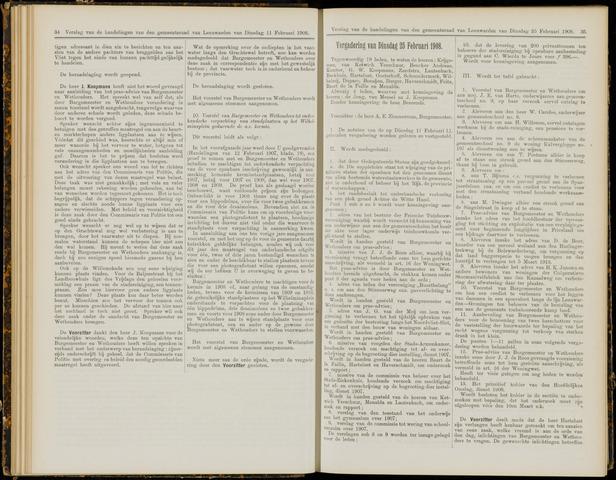 Raadsverslagen van de gemeente Leeuwarden, 1865-2007 (Notulen) 1908-02-25