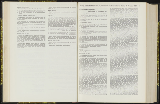 Raadsverslagen van de gemeente Leeuwarden, 1865-2007 (Notulen) 1953-11-24