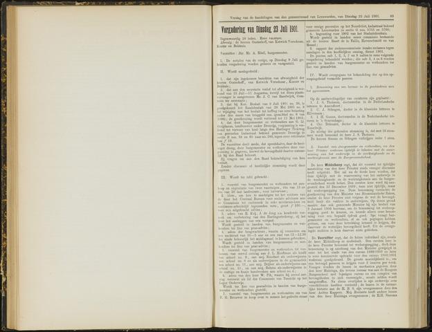 Raadsverslagen van de gemeente Leeuwarden, 1865-2007 (Notulen) 1901-07-23