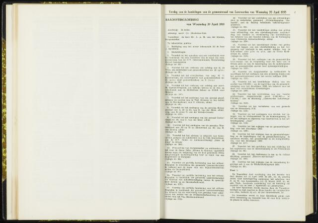 Raadsverslagen van de gemeente Leeuwarden, 1865-2007 (Notulen) 1955-04-20