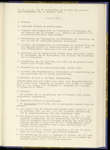 Notulen van de gemeenteraad van Leeuwarderadeel 1956-12-14