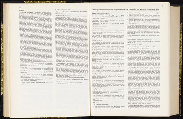 Raadsverslagen van de gemeente Leeuwarden, 1865-2007 (Notulen) 1960-08-24