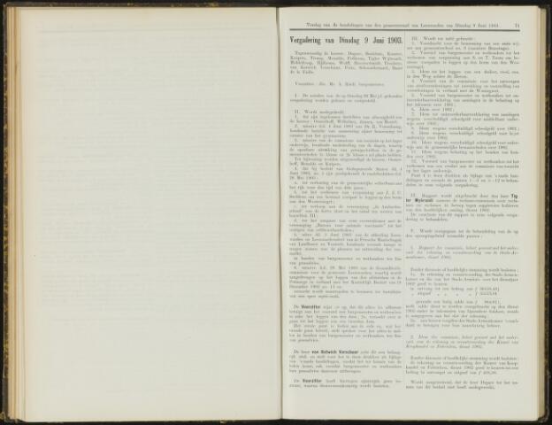 Raadsverslagen van de gemeente Leeuwarden, 1865-2007 (Notulen) 1903-06-09