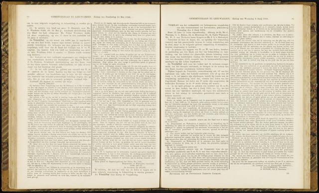 Raadsverslagen van de gemeente Leeuwarden, 1865-2007 (Notulen) 1866-06-06
