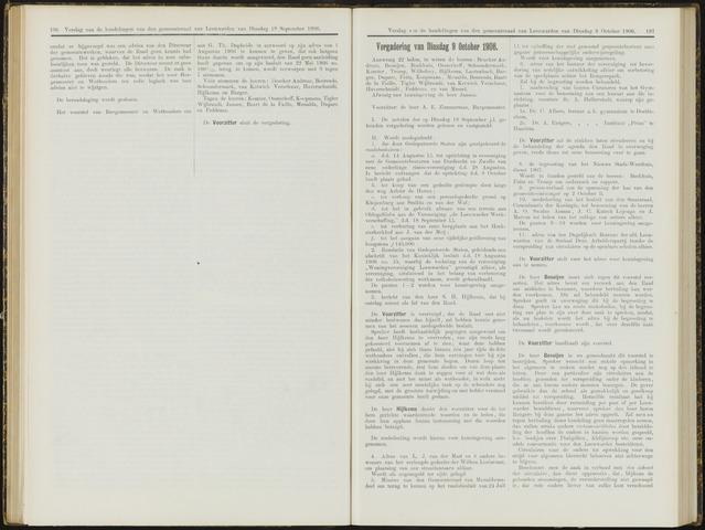 Raadsverslagen van de gemeente Leeuwarden, 1865-2007 (Notulen) 1906-10-09